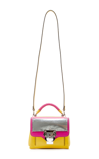 Dun Dun Metallic Flap Two Toned Bag  by PAULA CADEMARTORI Now Available on Moda Operandi