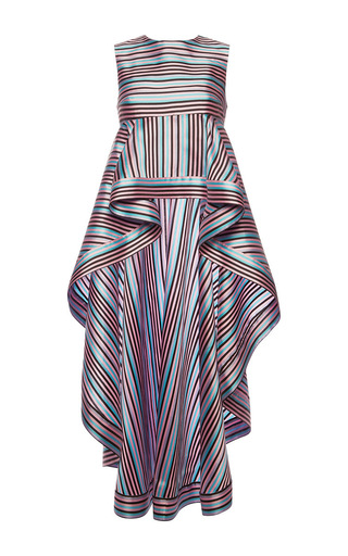 Medium natasha zinko stripe striped cascading peplum top