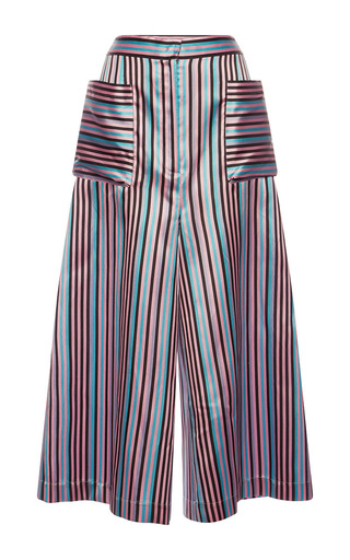 Medium natasha zinko stripe striped jacquard culottes