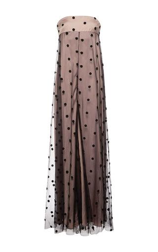 Medium natasha zinko black dot embroidered strapless jumpsuit