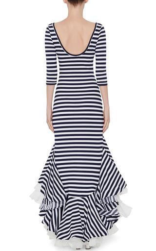Striped Jersey Dress With Ruffles by NATASHA ZINKO Now Available on Moda Operandi
