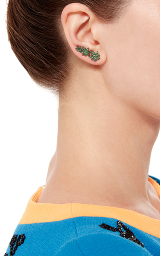 White Widow Tsavorites Single Earring by RUNA Now Available on Moda Operandi
