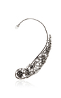 Gold With Grey Diamonds Lace Ear Cuff by RUNA Now Available on Moda Operandi