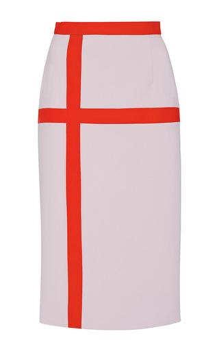 Medium bibhu mohapatra light grey color blocked pencil skirt