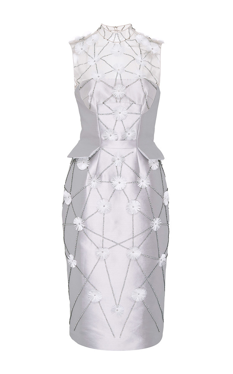 ea344118079 Bibhu MohapatraFlower Embroidered Cocktail Dress. CLOSE. Loading