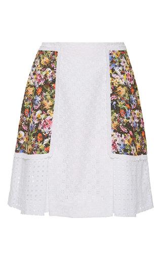 Medium mary katrantzou white broderie anglais frill skirt