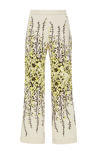 Flared Floral Trousers by GIAMBATTISTA VALLI Now Available on Moda Operandi