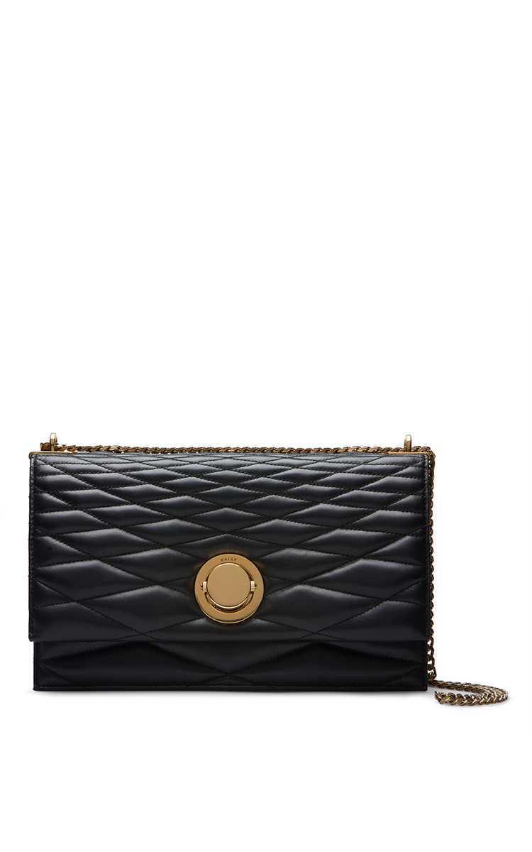 Quilted Leather Shoulder Bag In Black by Bally | Moda Operandi : bally quilted bag - Adamdwight.com