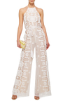 Harriet Floral Cinched Jumpsuit  by MIGUELINA Now Available on Moda Operandi