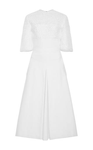 Cotton Silk Macramé Top Dress by ADEAM Now Available on Moda Operandi