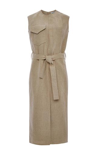 Linen Canvas Dress With Belt by NINA RICCI Now Available on Moda Operandi