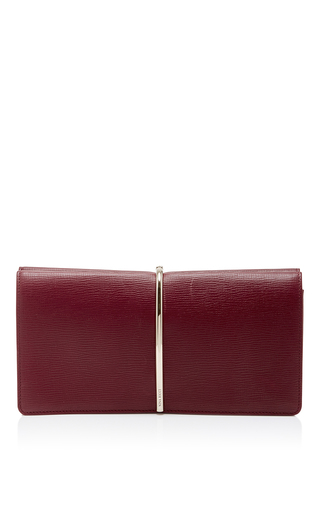 Red Calf Leather Small Evening Clutch by NINA RICCI Now Available on Moda Operandi
