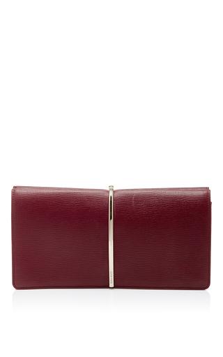 Medium nina ricci burgundy red calf leather small evening clutch