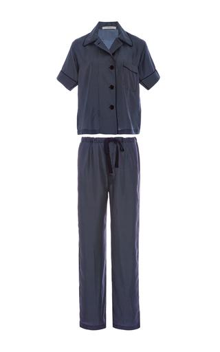 Medium araks navy navy silk polka dot pajama set