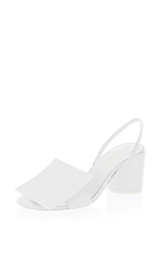 Medium jacquemus white square leather heel