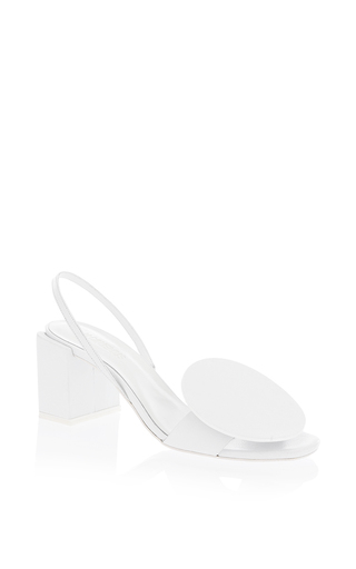 Medium jacquemus white round leather heel