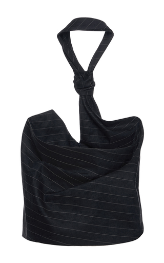 Linen Tie Top by JACQUEMUS Now Available on Moda Operandi