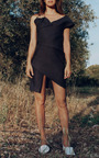 Linen Asymmetrical Loop Dress by JACQUEMUS Now Available on Moda Operandi