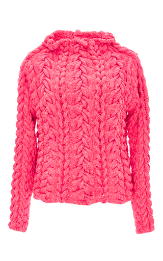 Medium spencer vladimir pink the hollywood cashmere blend hand knit sweater