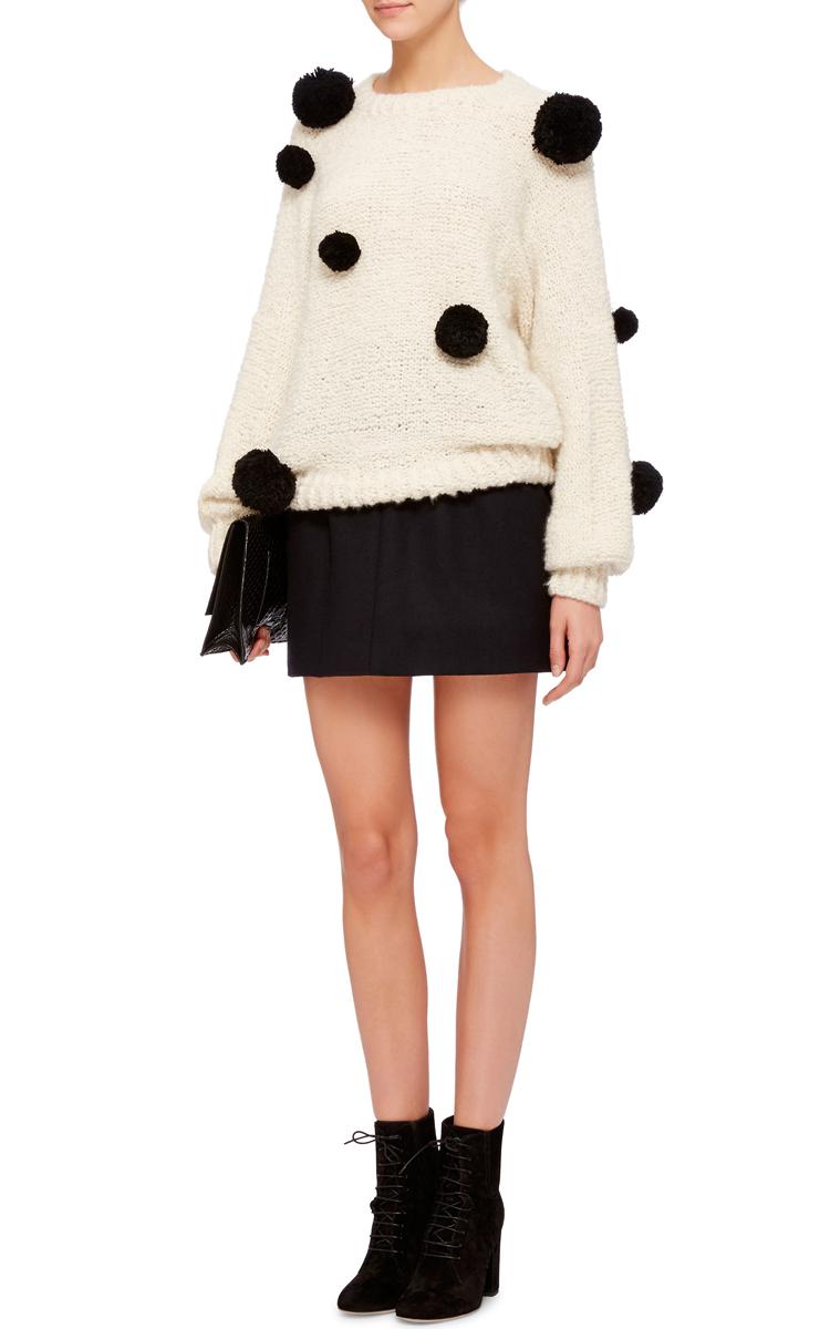 Cashmere And Silk Mariko Pom Pom Sweater By Spencer Moda Operandi