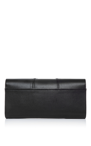 Black Leather Capitale Glove Clutch by PERRIN PARIS Now Available on Moda Operandi