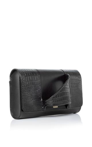 Asymetrique Crocodile Glove Clutch  by PERRIN PARIS Now Available on Moda Operandi