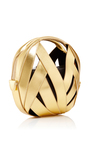 Gold Calfskin Riva Ball Bag In Small by PERRIN PARIS Now Available on Moda Operandi