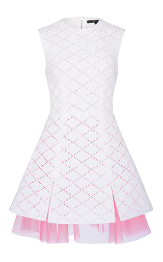 Medium alex perry white freya broderie mini dress