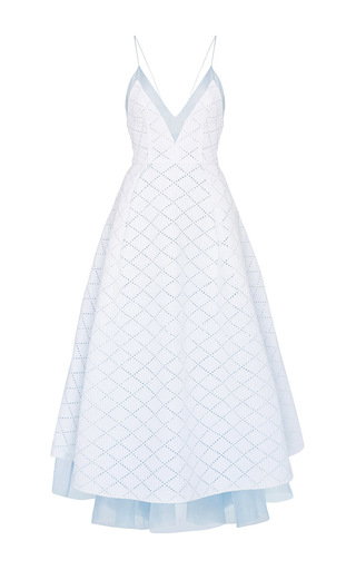 Medium alex perry white kiyanna broderie midi dress