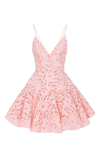 Medium alex perry light pink leisa lace flip mini