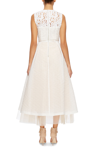 Imogen Floral Organza Midi Dress by ALEX PERRY Now Available on Moda Operandi