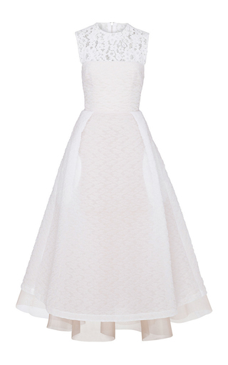 Medium alex perry white imogen floral organza midi dress