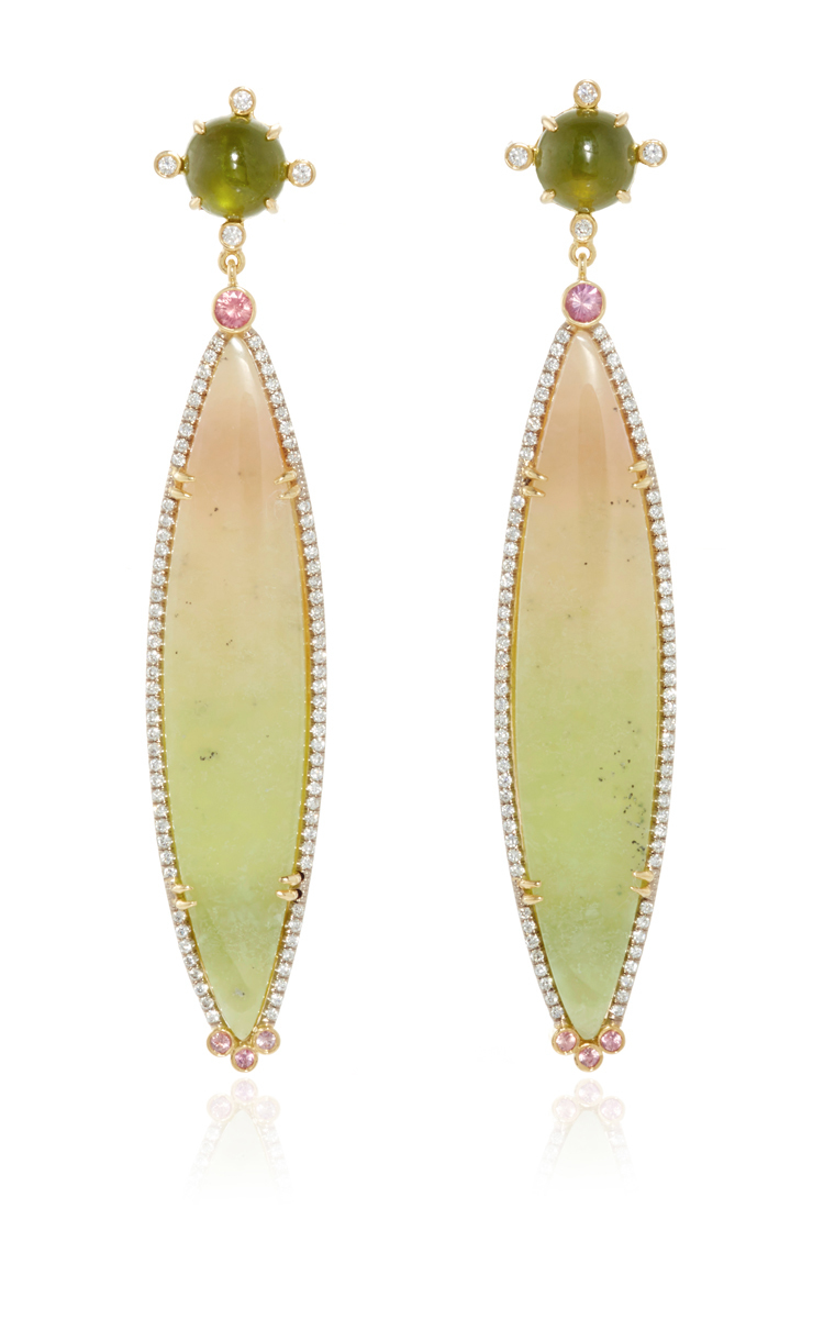 peach products drop modernity cushion color deller cut earrings sapphire dakota best padparadscha