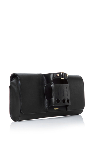 Black Leather Cabriolet Glove Clutch by PERRIN PARIS Now Available on Moda Operandi