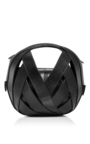 Black Small Leather Ball Bag  by PERRIN PARIS Now Available on Moda Operandi