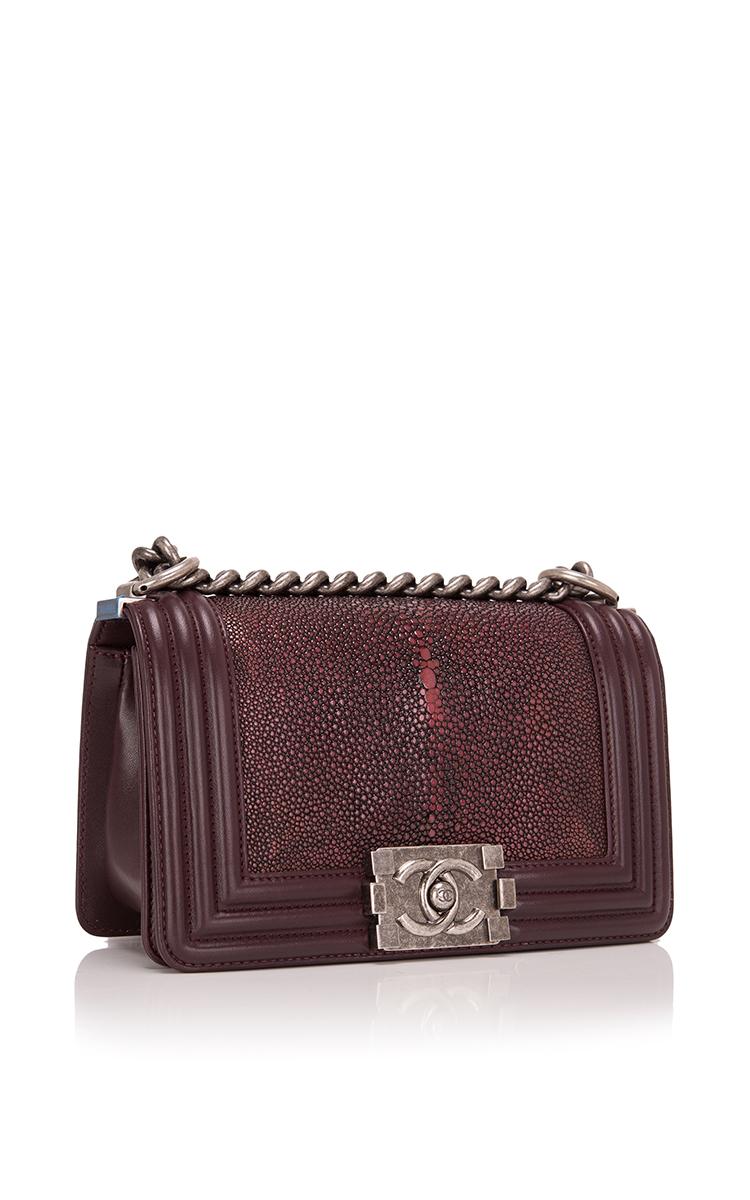 51eb434a8bc7 Hermes VintageChanel Burgundy Stingray Small Boy Bag. CLOSE. Loading.  Loading