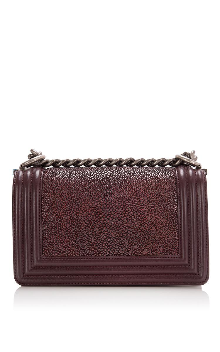 ca9d2bd08443 Hermes VintageChanel Burgundy Stingray Small Boy Bag. CLOSE. Loading.  Loading. Loading