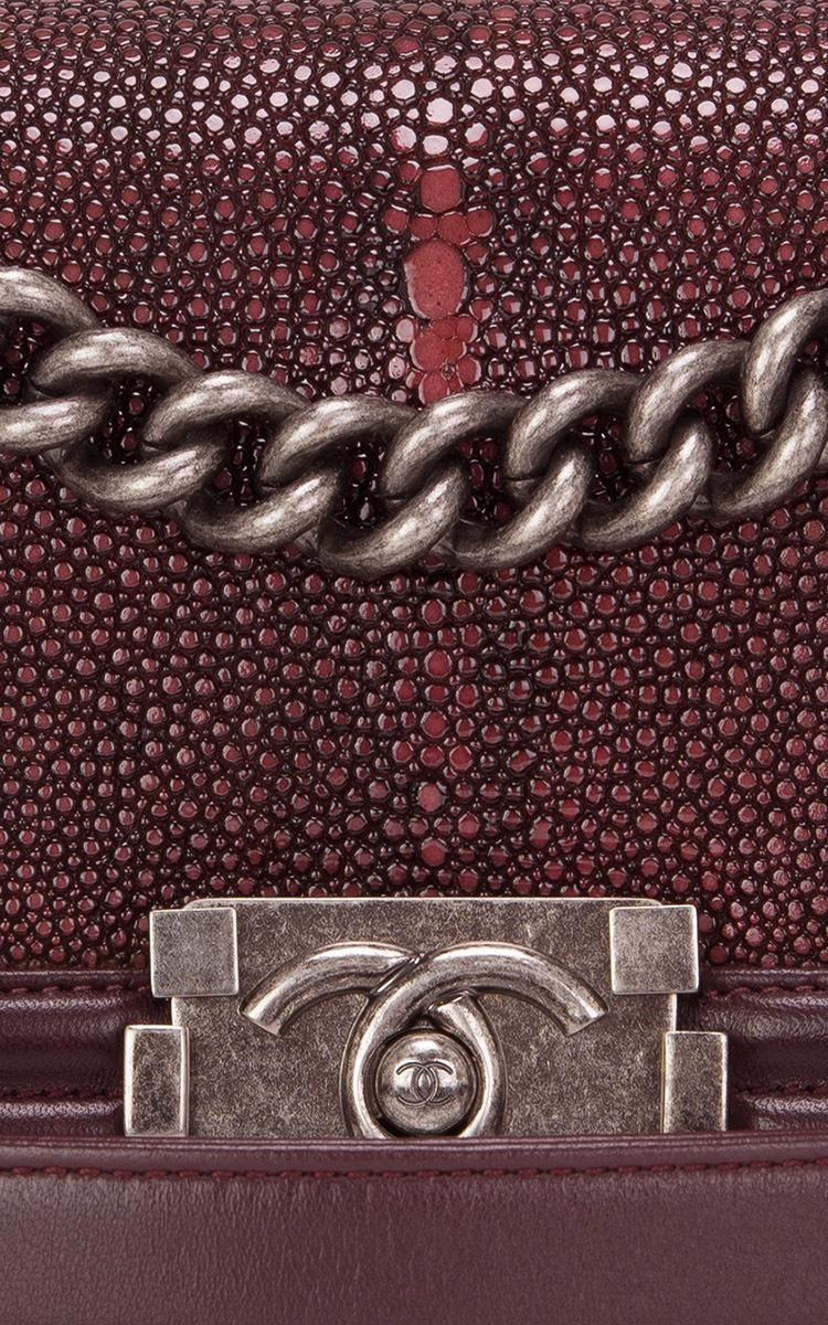 e1b4e06ab951 Hermes VintageChanel Burgundy Stingray Small Boy Bag. CLOSE. Loading.  Loading. Loading. Loading. Loading