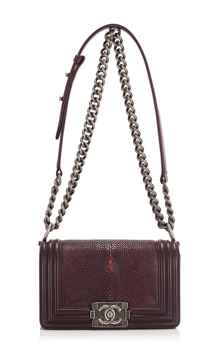 8ca00d46017e Hermes VintageChanel Burgundy Stingray Small Boy Bag. CLOSE. Loading.  Loading. Loading. Loading. Loading. Loading