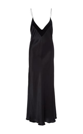 Medium ellery multi silk slip dress with tonal detail