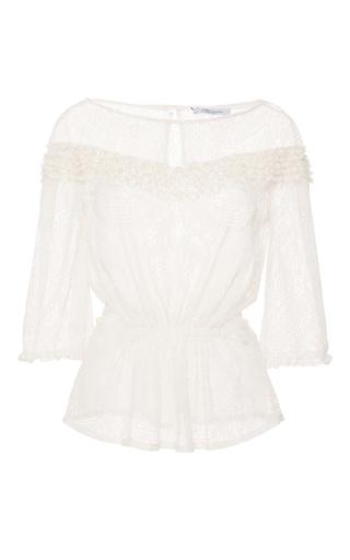 Medium blumarine off white lace blouse