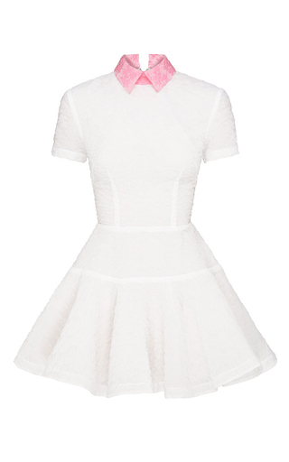 Medium alex perry white short sleeve brie mini dress