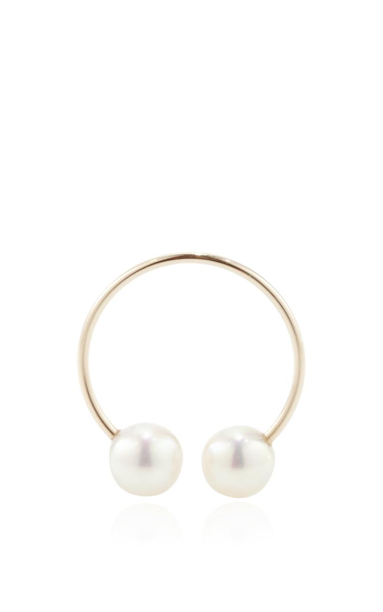 Hirotaka Womens Pearl & Yellow Gold Ear Cuff Xs0D2N7