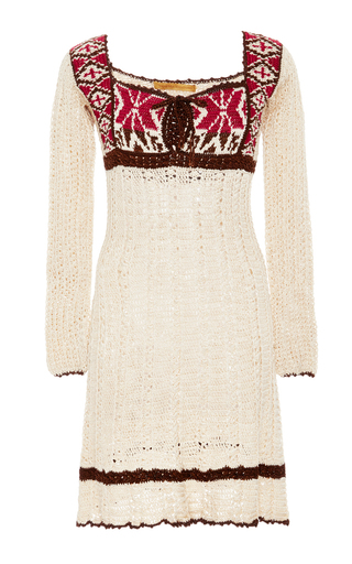 Medium vanessa montoro ivory long sleeve indie dress