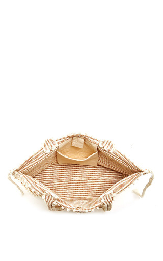 Ivory Capriccioli Tote With Diamond Motif by ANTONELLO Now Available on Moda Operandi