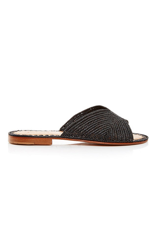 Medium carrie forbes black black salon slip on sandals