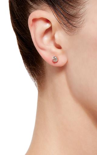 Swarovski Crystal Triple Line Ear Cuff With Single Stud by RYAN STORER Now Available on Moda Operandi