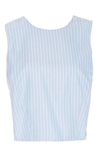 Medium mds stripes stripe cotton pinstriped cross back top