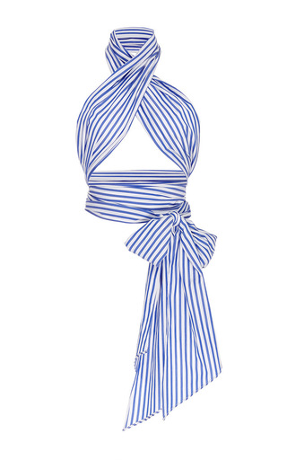 Medium mds stripes blue blue and white striped all purpose scarf
