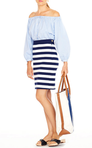 Paley Pencil Skirt by MDS STRIPES Now Available on Moda Operandi